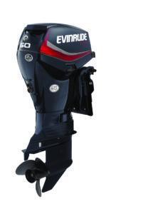 60 HP Evinrude E-TEC - Graphite Engine Profile